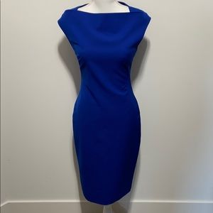 Zara Woman Royal Blue Fitted Dress